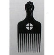 Fist Plastic Afro Comb